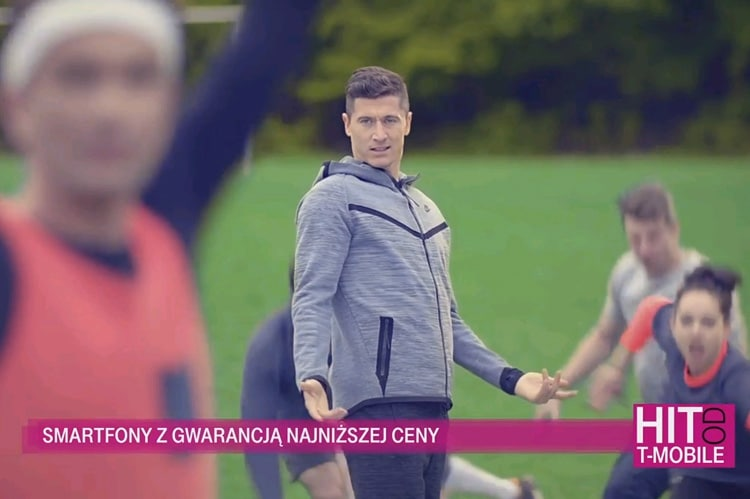 Robert Lewandowski reklama T-Mobile