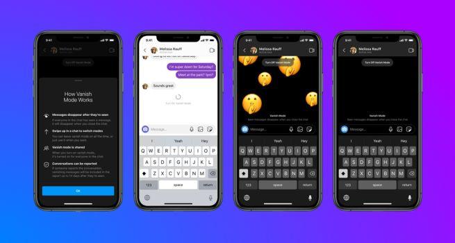 Facebook tryb znikających wiadomości Messenger