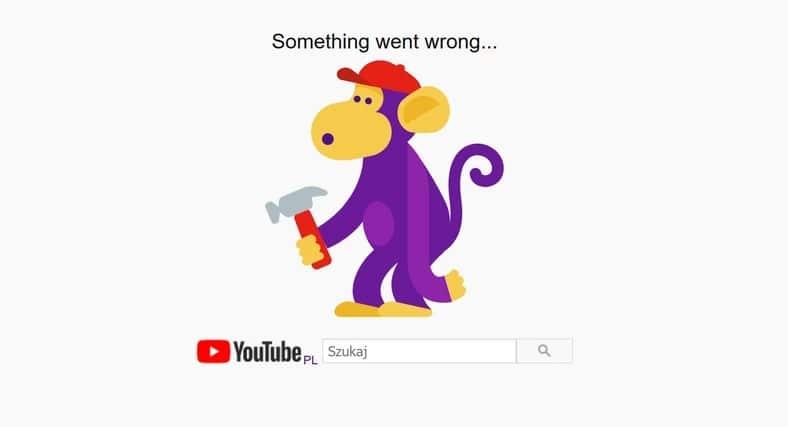 awaria youtube 2020